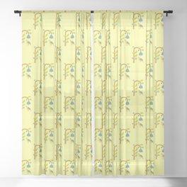 Modern Pop Art Yellowbird Sheer Curtain