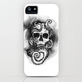 Skull and Octopus Together Forever by annmariescreations iPhone Case