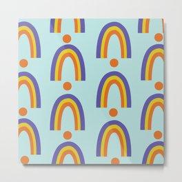 Robert's Rainbows Pattern Metal Print