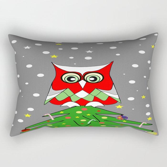 Tree Top Owl Rectangular Pillow