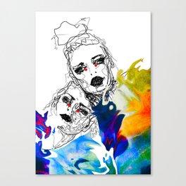 Emotional chaos Canvas Print