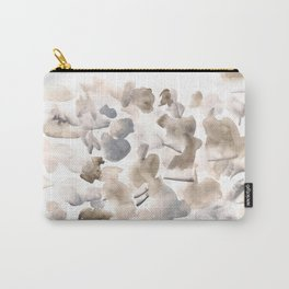 180630 Abstract Watercolour Black Brown Grey Neutral 17| Watercolor Brush Strokes Carry-All Pouch