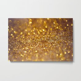 Golden glitter #society6 Metal Print