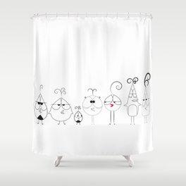 Birds On A Line Shower Curtain