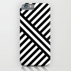 B/W two way diagonal stripes Slim Case iPhone 6s