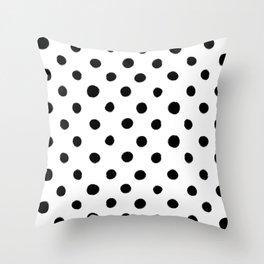 Modern Handpainted Abstract Polka Dot Pattern Throw Pillow