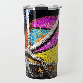 Basketball art swoosh vs 48 Travel Mug