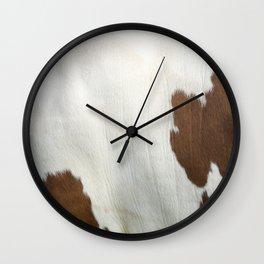 Cowhide v2 Wall Clock