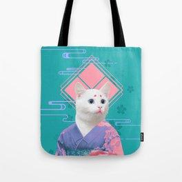 Geisha cat 02 Tote Bag