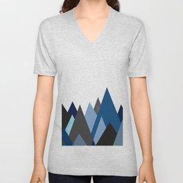 Classic Blue Mountains geometric Unisex V-Neck