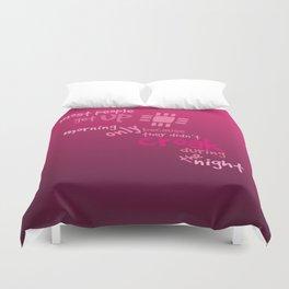 Croak-Pink Duvet Cover