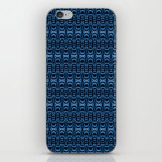 Dividers 07 in Blue over Black iPhone & iPod Skin