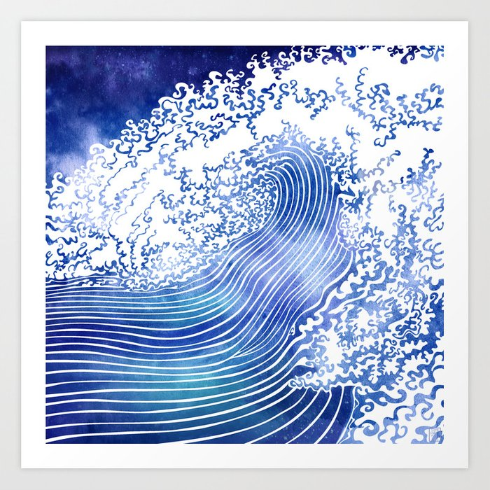 Pacific Waves II Art Print