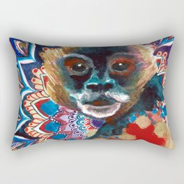 Monkey Floral Yoga Mandala Rectangular Pillow