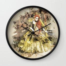 Madonna della Verde Watercolour Wall Clock