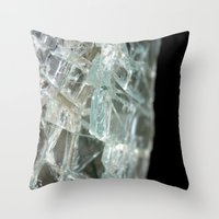 glass Throw Pillows featuring Glass by Roser Arques