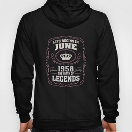 June 1958 The Birth Of Legends Hoody