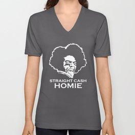 Moss Straight Cash Homie New England Patriot Vikings Minnesota T-Shirts Unisex V-Neck