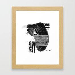 shape shift. black 02 Framed Art Print