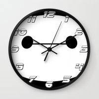 baymax Wall Clocks featuring BAYMAX by Yiji
