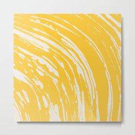 Nagashi Yellow Metal Print