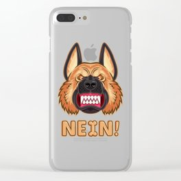 Doggy Says No Clear iPhone Case