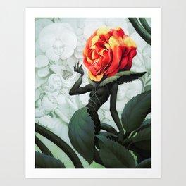 Alice in Wonderland Rose Art Print