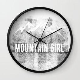Mountain Girl Wall Clock