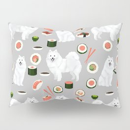 Japanese Spitz sushi kawaii dog portrait custom pet lover pattern by pet friendly Pillow Sham