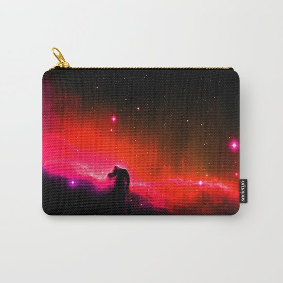 Horsehead NebULa : Coral Red Pink Carry-All Pouch