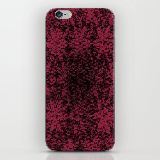 Pink Halftone Flowers iPhone & iPod Skin