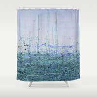marina Shower Curtains featuring Marina by Katie Duker