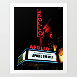 Harlem's Apollo Theater Portrait Painting Art Print