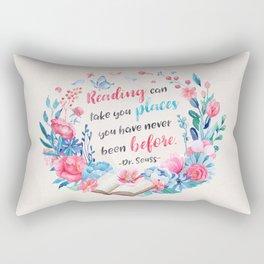Reading can take you places Rectangular Pillow