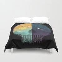 magritte Duvet Covers featuring Embrace Life by dan elijah g. fajardo