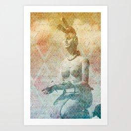 Ixchel, diosa maya  Art Print