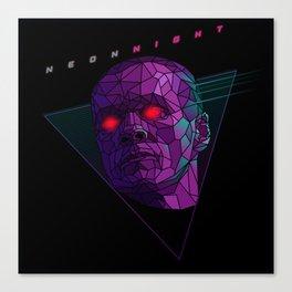 Neonnight 80s cyborg Canvas Print