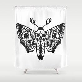 Death Moth Shower Curtain