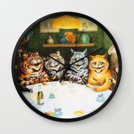 Kitty Happy Hour - Louis Wain's Cats Wall Clock