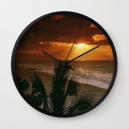 North Shore Sunset Hawaii Wall Clock