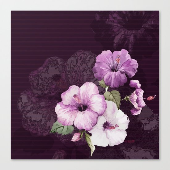 The shadow of flowers Canvas Print