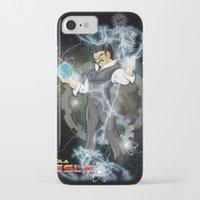 dbz iPhone & iPod Cases featuring DBZ Tesla Milky Way by Hushy