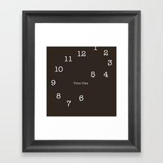 Time flies. Framed Art Print