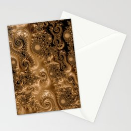 Copper Leaves-Sepia Stationery Cards