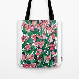 """Capacity""/Lathyrus odoratus - part of the Bell Jar series Tote Bag"
