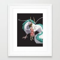 spirited away Framed Art Prints featuring Spirited Away by Sharna Myers