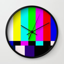 No Signal TV Wall Clock