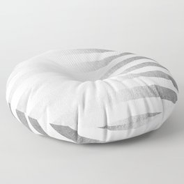 Simply Striped Moonlight Silver Floor Pillow