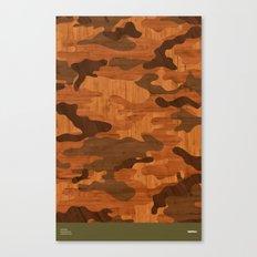 Modern Woodgrain Camouflage / Woodland Print Canvas Print