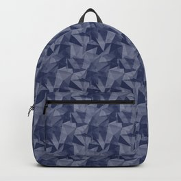 Pantone Blue Depths 19-3940 Abstract Geometrical Triangle Patterns 2 Backpack